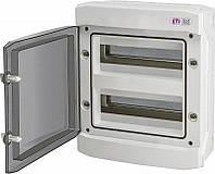 Модульный щиток, 24 модуля, 2 ряда, IP65, ECH-24PT, прозрачная дверца, 1101063