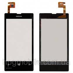 Сенсорный экран для Nokia Lumia 521, черный, оригинал