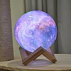 Ночник Луна Цветная Magic 3D Moon Light | Настольный светильник ночник луна на сенсорном управлении, фото 4