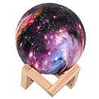 Ночник Луна Цветная Magic 3D Moon Light | Настольный светильник ночник луна на сенсорном управлении, фото 5
