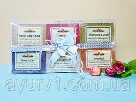 Большой подарочный набор мыла Кхади / Khadi Soap / Индия / 6 шт, 800 г