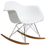 Кресло-качалка Тауэр R, полозья, дерево, пластик, цвет серый, фото 2