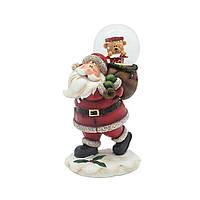 Санта со снежным шаром 13см 109245