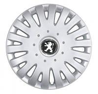 """Колпаки для колес 15"""" c логотипом автомобиля 4 шт (SKS 306) Peugeot"""