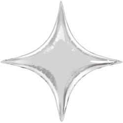 4 кутна зірка срібна фольгована 70*70 Китай