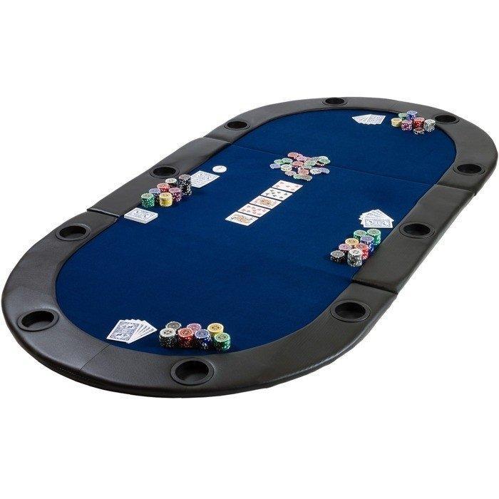 Складной покерный стол Pro Poker Compact 208х106х3 см Синий (830893)