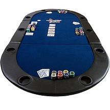 Складной покерный стол Pro Poker Compact 208х106х3 см Синий (830893), фото 2