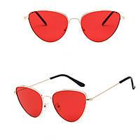 Имиджевые очки лисички красные