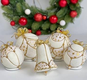 Набор елочных шаров Брызги шампанского