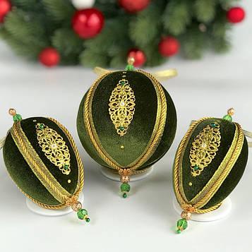 Набор елочных игрушек Королевский бал Зеленый