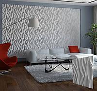 """Гипсовая 3d панель для стен """"ВЕТЕР"""" (декоративная стеновая 3д панель)"""