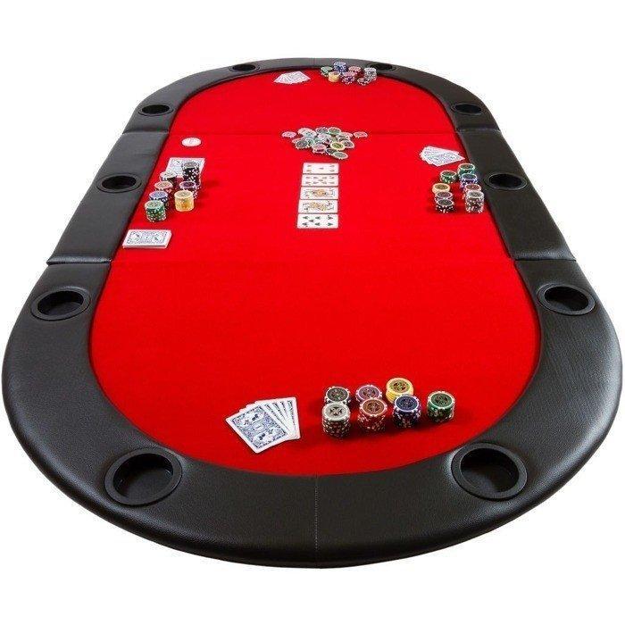 Складной покерный стол Pro Poker Compact 208х106х3 см Красный (830894)