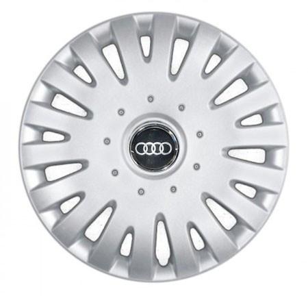 """Колпаки для колес 14"""" c логотипом автомобиля 4 шт (SKS 211) Ауди"""