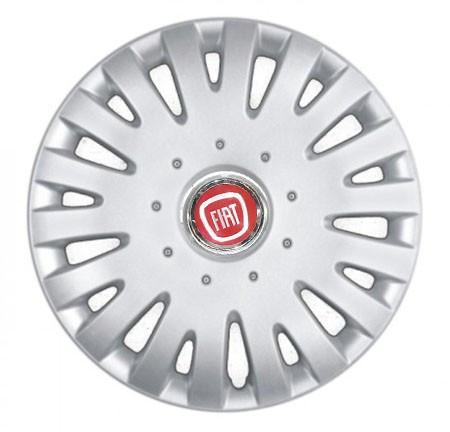 """Колпаки для колес 14"""" c логотипом автомобиля 4 шт (SKS 211) Фиат"""