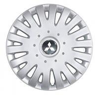 "Колпаки для колес 14"" c логотипом автомобиля 4 шт (SKS 211) Mitsubishi"