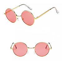 Имиджевые очки круглые кораловые