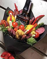 Вкусный подарок мужу Джек патриот с колбасками и овощами.