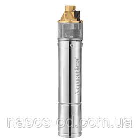 Насос глубинный вихревой Aquatica для скважин 0.75кВт Hmax58м Qmax45л/мин Ø96мм