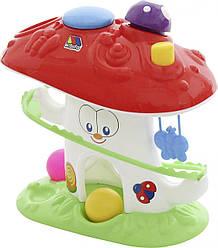 """Розвиваюча іграшка """"Веселий гриб"""" (в сіточці) (Полісся)"""