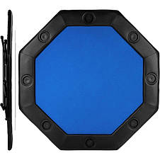 Складной покерный стол Pro Poker Compact 122x122x76 см Синий (830896), фото 3