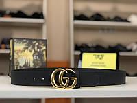 Кожаный ремень Gucci 4см (Гуччи) арт. 70-01, фото 1