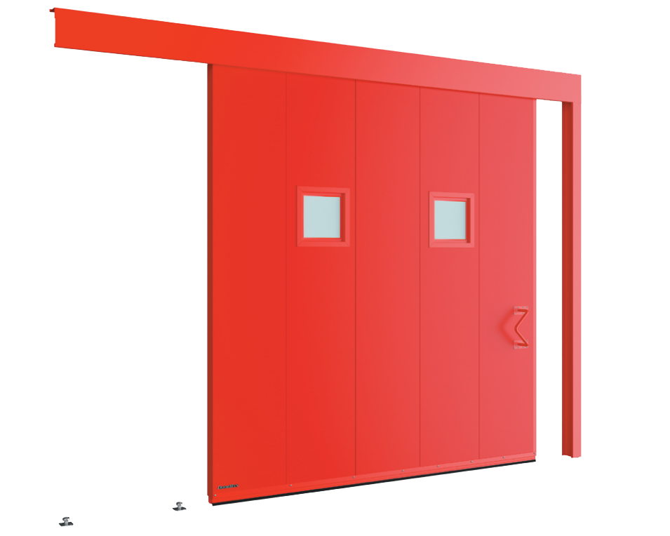 Одностворчатые откатные противопожарные ворота с классом огнестойкости EI60, EI90