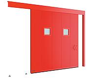 Одностворчатые откатные противопожарные ворота с классом огнестойкости EI60, EI90, фото 1