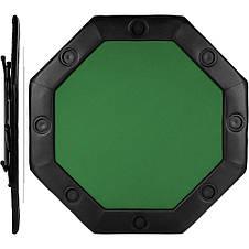 Складной покерный стол Pro Poker Compact 122x122x76 см Зеленый (830897), фото 3