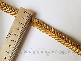 Шнур кант декоративный вшивной Шнур декоративий золотий люрексовий 8 мм. Ціна за 1 метр.