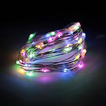 Декор Светодиодная Гирлянда Нить ЛЕД Разноцветная На Батарейках 4,5м 50led Multicolor, фото 2