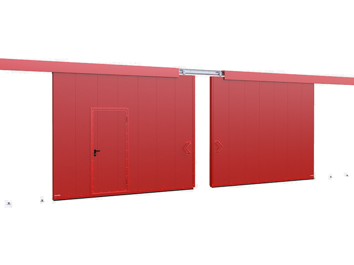 Двустворчатыеоткатные противопожарные ворота DoorHan с классом огнестойкости EI60, EI90