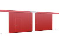 Двустворчатыеоткатные противопожарные ворота DoorHan с классом огнестойкости EI60, EI90, фото 1