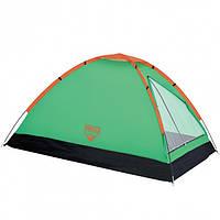 Палатка туристическая двухместная Bestway 68040 Monodome 145x205x100 см Green