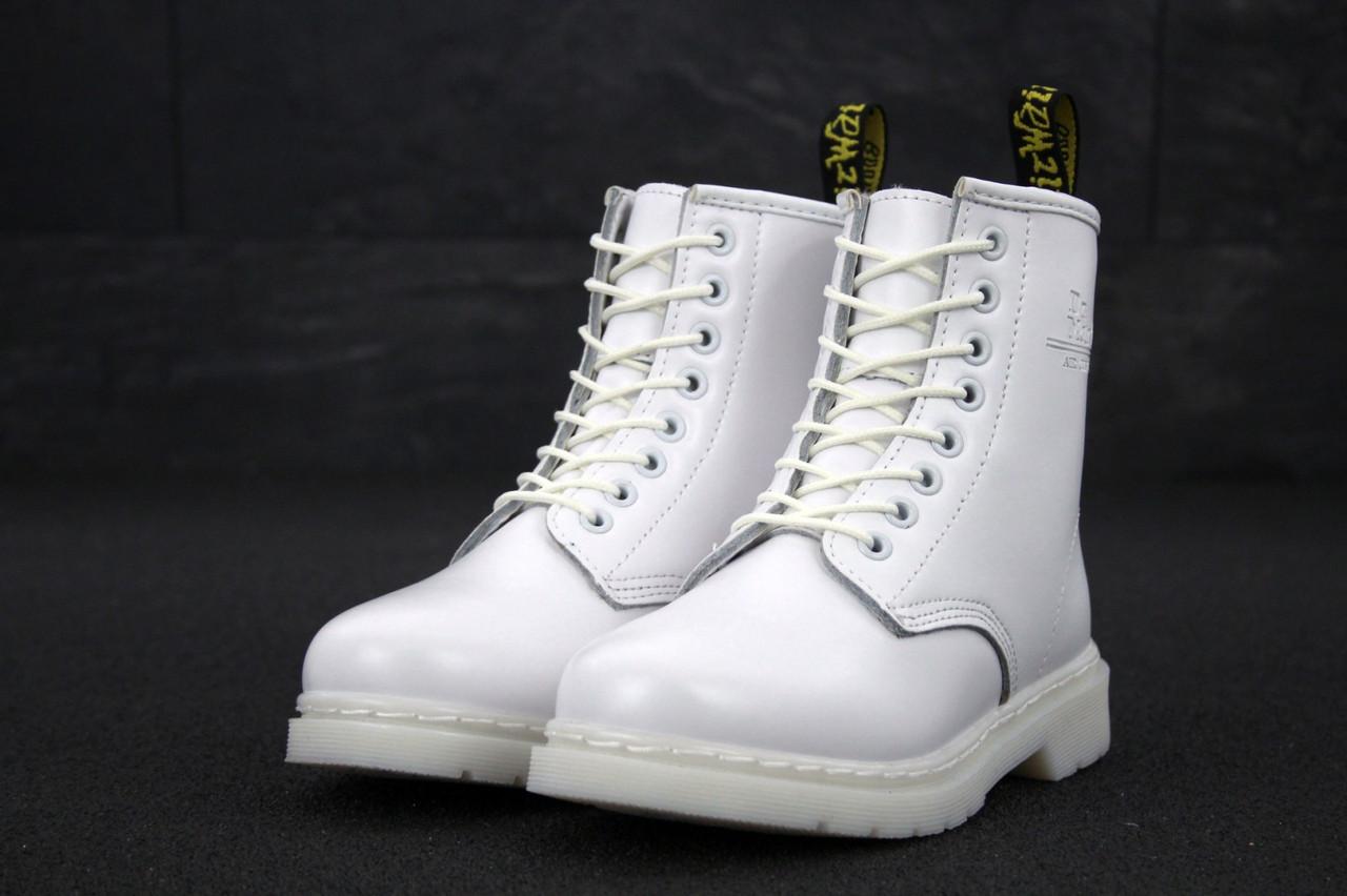 Зимние Женские белые Ботинки Dr.Martens (реплика)