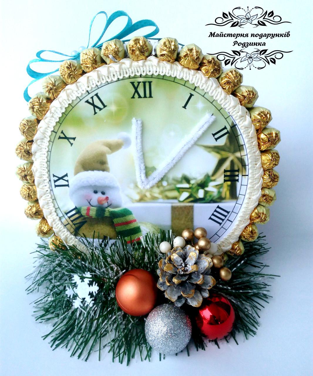 Новорічний годинник із цукерок. Новорічні подарунки. Корпоративні подарунки на Миколая, Новий рік. Різдво