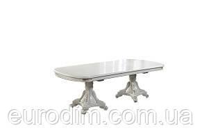 Стол обеденный P22 белый/патина (3,5м)