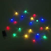 Гирлянда LED акриловая Шарики разноцветные 20 светодиодов 2 м. 40304