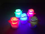 Светильник хамелеон/ ночник с цветной подсветкой Розочка, фото 2