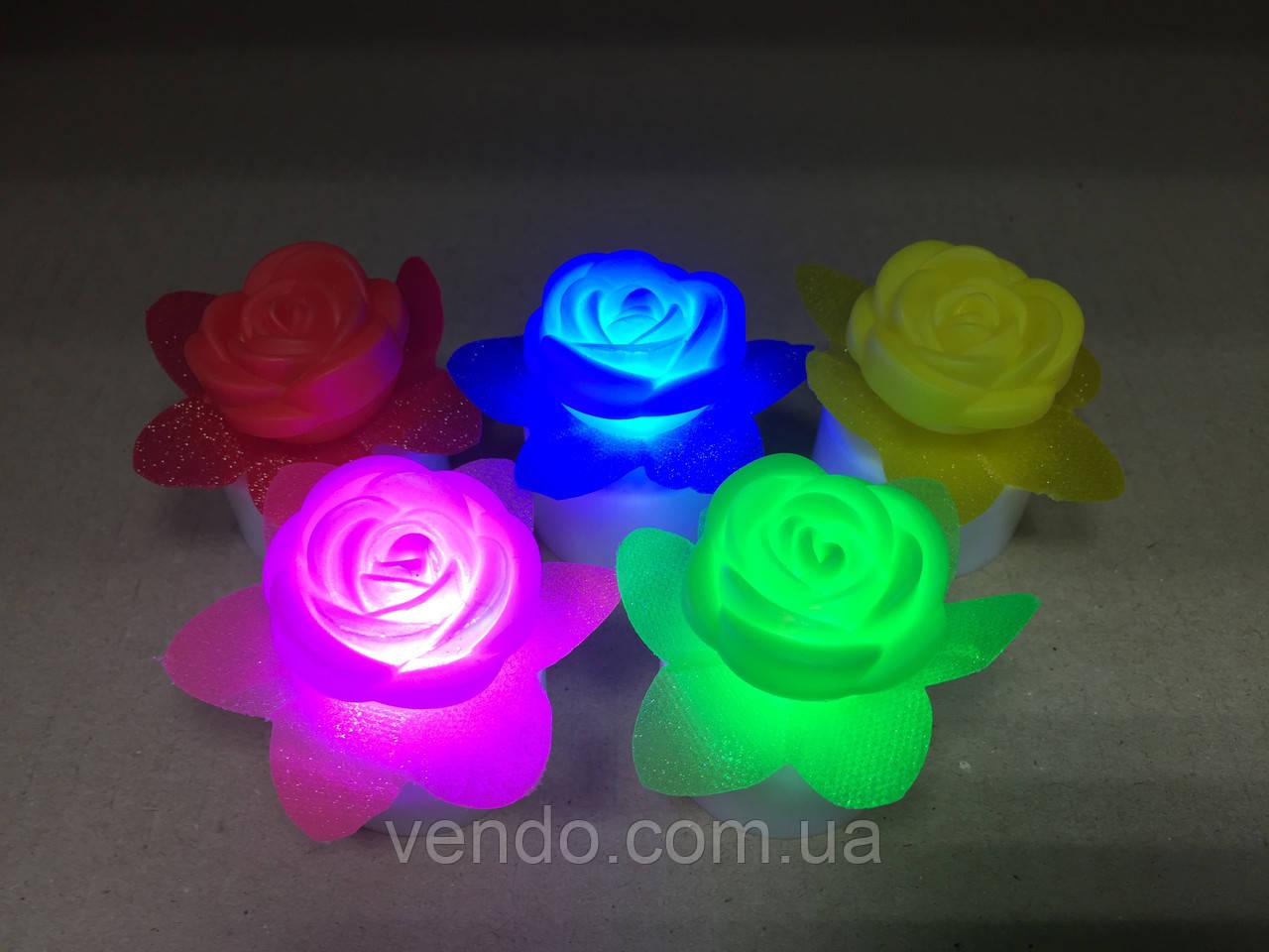 Светильник хамелеон/ ночник с цветной подсветкой Розочка