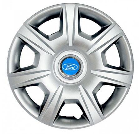 "Колпаки для колес 15"" c логотипом автомобиля 4 шт (SKS 327) Форд"