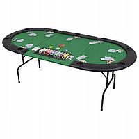 Складной покерный стол Pro Poker Push 206х106х76 см Зеленый (830898)