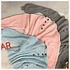 Объемный двусторонний вязанный свитер с пуговицами 42-46 р, фото 3