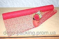 Красная сетка для упаковки цветов Deluxe (кружева)