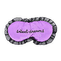 "Шелковая маска для сна ""Sweet Dreams Purple"". Повязка для сна. Маска на глаза для сна. Маска для сну"