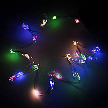 Декор Светодиодная Гирлянда Водопад ЛЕД Хвост Мультицвет 10 нитей 1,9м 200led Сеть 220В Waterfal Multi, фото 2