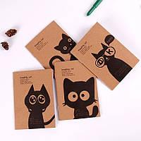 Блокнот «коти», крафтовий записник з котами, ретро блокнот