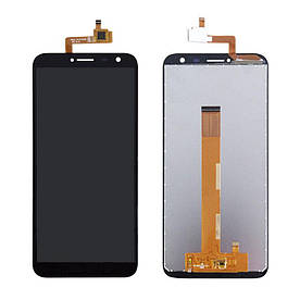 Дисплей для S-TELL M655 с сенсорным стеклом (Черный) Оригинал Китай