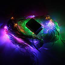 Декор Светодиодная Гирлянда Водопад Дождь Штора Занавес ЛЕД Мутьтицвет RGB 3х2м 280LED От 220В С Переходником, фото 3