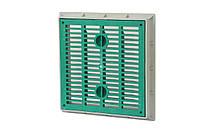 Решетка колодца кабельного 400х400 зеленая
