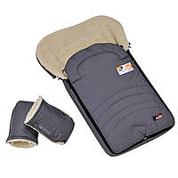 Конверт меховой For kids с муфтой-рукавицами в коляску или санки